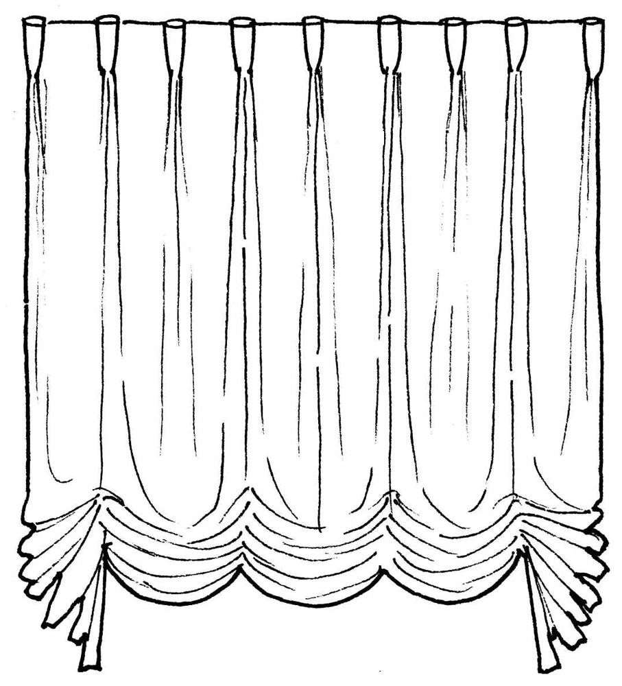 картинка как нарисовать шторы екатеринбурге из-за неожиданной
