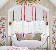 Подъемные шторы на арочные окна